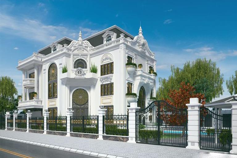 Biệt thự tân cổ điển 4 tầng đẹp sang trọng