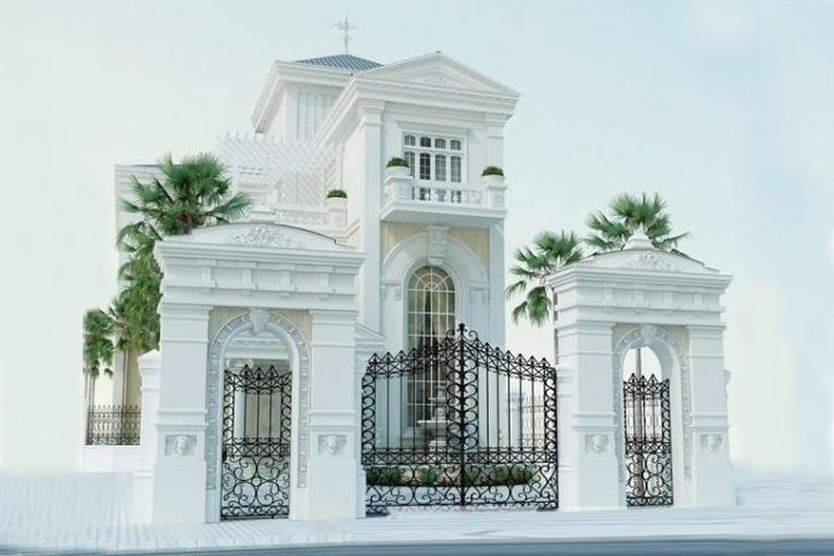 Mẫu biêth thự tân cổ điển 2 tầng đẹp