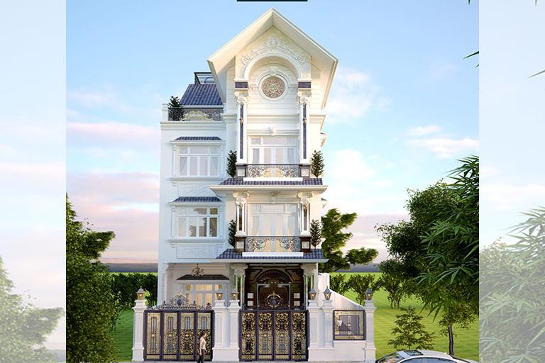 Biệt thự 4 tầng tân cổ điển tại Hải Dương